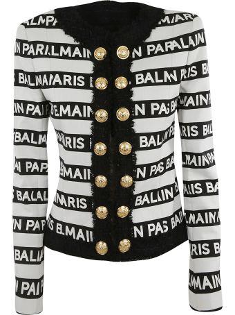 Balmain Stripe Print Jacket