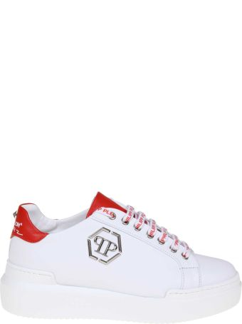 Philipp Plein Sneakers Lo-top Sneakers In White Leather