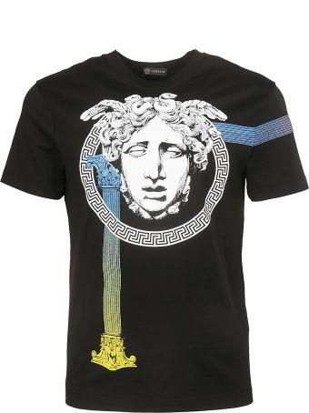 Versace Medusa Column Print T-shirt