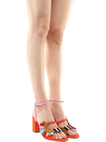 Paula Cademartori Lexie Classic Multicolored-suede Sandals