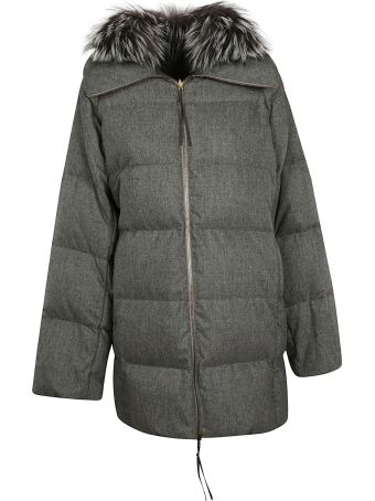 Agnona Fur Padded Jacket
