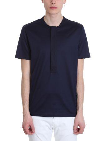 Low Brand Blue Cotton T-shirt
