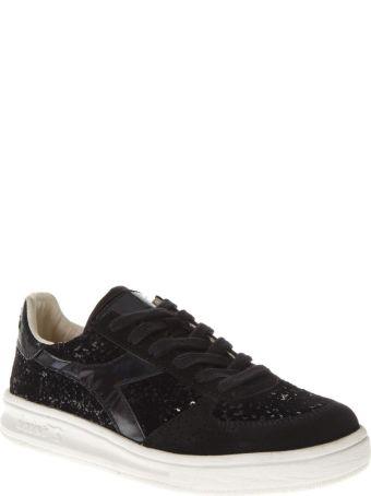 Diadora Heritage Elite Black Leather Sneakers