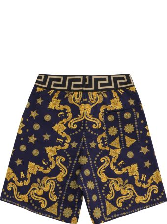 Young Versace Printed Sweat Shorts