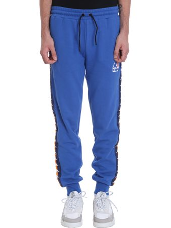 K-Way Kappa X K-way Collaboration Pants In Blue Cotton