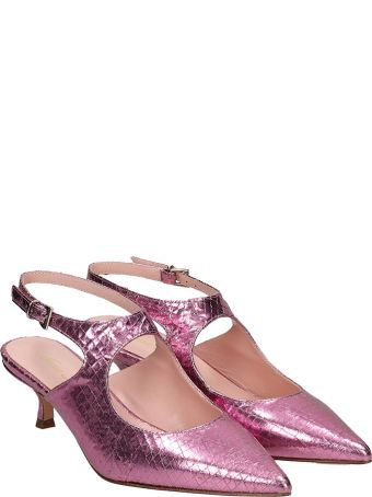 Anna F. Pumps In Rose-pink Leather