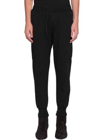 Overcome Black Cotton Sweatpants