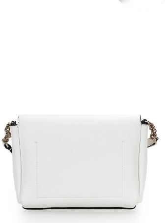 Calvin Klein Mix White Beige Small Crossbody Bag