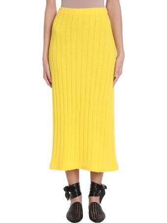 Jil Sander High-waisted Ribbed Knit Skirt