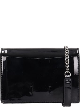 Calvin Klein Jeans Black Patent Leather After Hours Bag