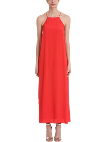 Mauro Grifoni Red Viscose Long Dress