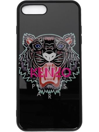 Kenzo I-phone7+ And I-phone8+ Black Cover With Tiger