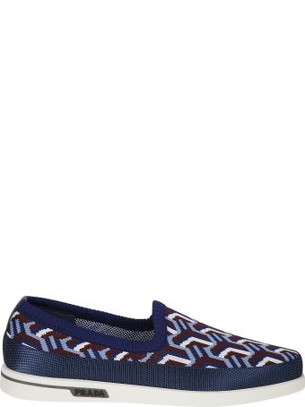 Prada Linea Rossa Jacquard Knit Slip-on Sneakers
