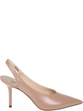 Jimmy Choo Ivy 85 Decollete In Nude Colored Leather