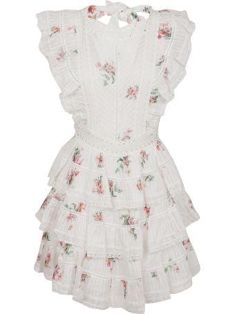 Zimmermann Heathers Pintuck Frill Short Dress