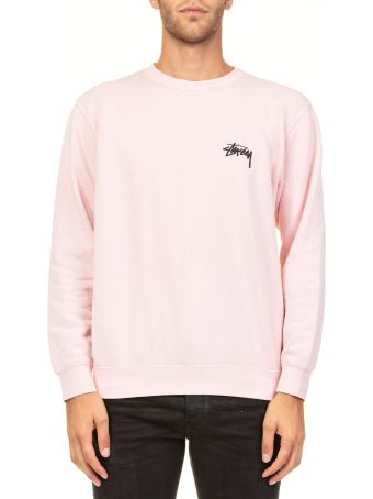 Stussy 8 Ball Pig. Dyed Crew Cotton Blend Sweater