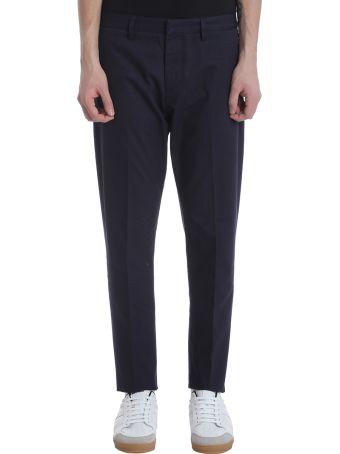 Ami Alexandre Mattiussi Blue Cotton Chino Trousers
