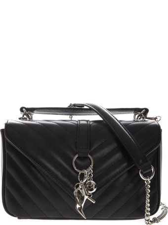 Marc Ellis Danaras Shoulder Bag In Black Leather