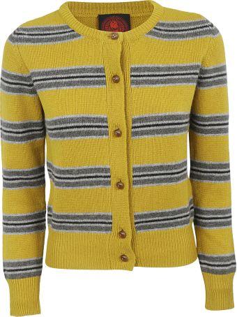 Happy Sheep Striped Cardigan