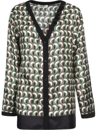 Max Mara The Cube V-neck Printed Cardigan