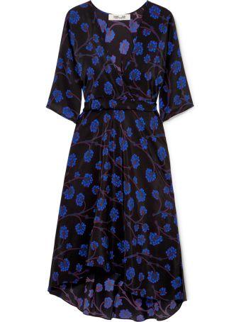 Diane Von Furstenberg Eloise Printed Silk Crepe-de-chine Midi Dress