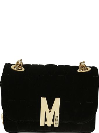 Moschino Front Flap Chain Shoulder Bag