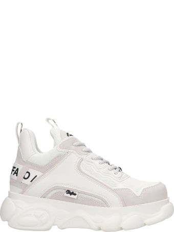 Buffalo Chain Sneakers In White Tech/synthetic