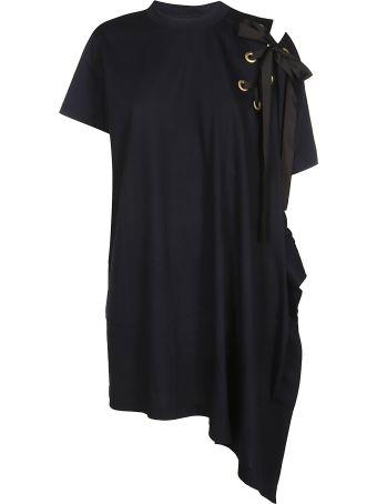 Sacai Embellished Asymmetric Dress