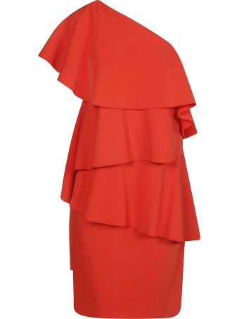 Lanvin Ruffled One Shoulder Dress