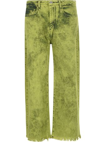 Marques'Almeida Fringed Cuff Long Jeans
