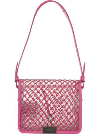 Off-White Pvc Net Flap Bag