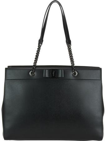Salvatore Ferragamo Vara Bow Detail Double Hand Bag