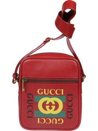 Gucci Logo Print Shoulder Bag