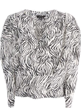 Isabel Marant Printed Gathered-sleeves Blouse
