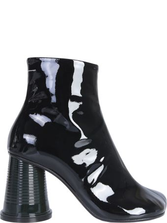 MM6 Maison Margiela Ankle Boots With Tumbler Heels