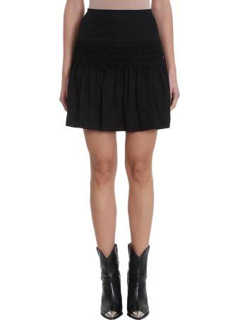 Isabel Marant Étoile Oliko Black Cotton Skirt