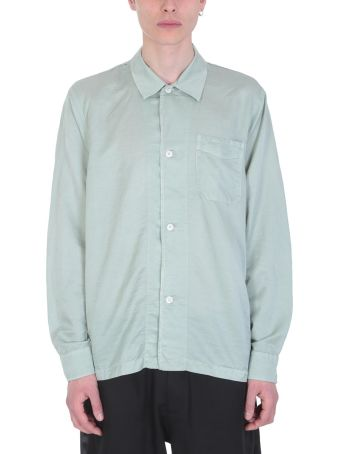 Our Legacy Green Cotton And Silk Shirt