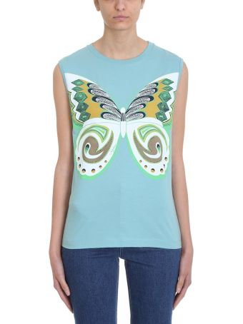 See by Chloé Butterfly Light Blue Top