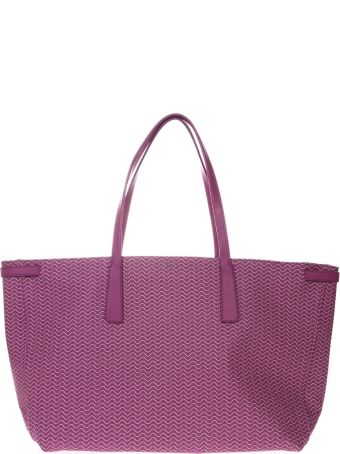 Zanellato Tote Duo Grand Tour Bag In Orchid Resined Canvas