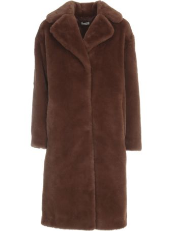 Parosh Faux Fur Jacket W/belt