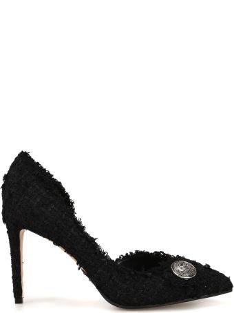 Balmain Julie Black Tweed Pumps Rn1c019ttwd0pa