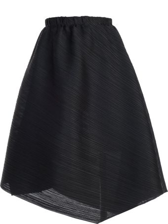 Pleats Please Issey Miyake Pleats Please By Issey Miyake Asymmetric Pleated Skirt