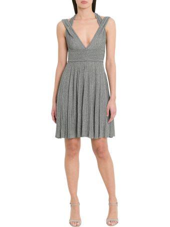 Antonino Valenti Petronia Short Dress In Pleated Lurex