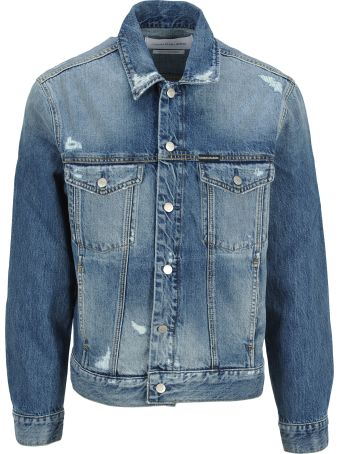 Calvin Klein Jeans Denim Jacket Broken