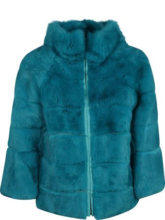 Blugirl High Neck Fur Jacket