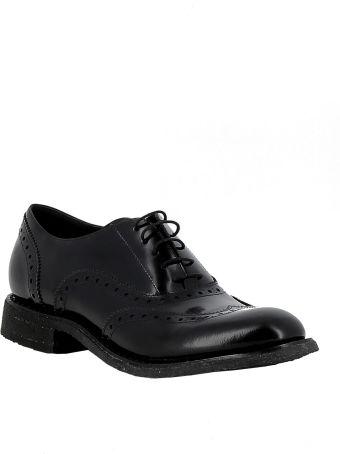Del Carlo Roberto Del Carlo Woman's Black Leather Lace-up Shoes