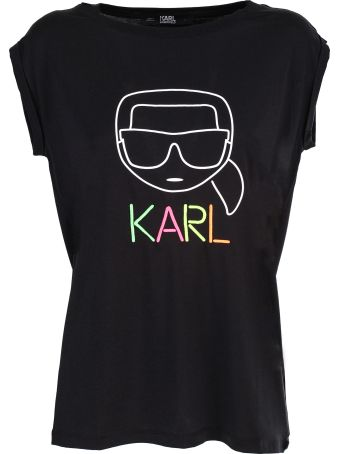 Karl Lagerfeld Cotton Karl Outline t-shirt in cotton