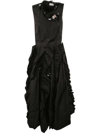 Moncler Genius Rocha Ruffled Sleeveless Dress