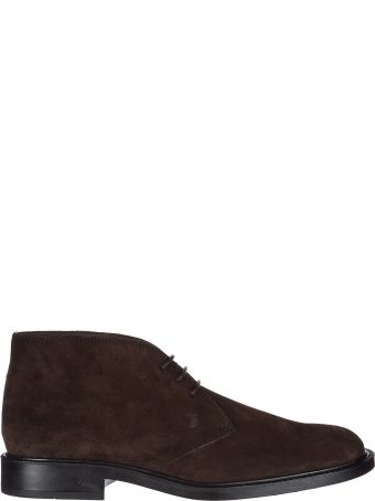 Tod's  Suede Desert Boots Lace Up Ankle Boots