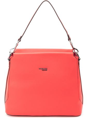 Trussardi Trussardi Berry Faux Leather Hobo Bag
